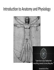 Introduction to A&P