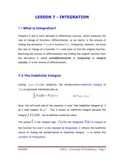 LESSON 7 - INTEGRATION