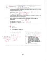 Equation of Line and Circle Practice Quiz