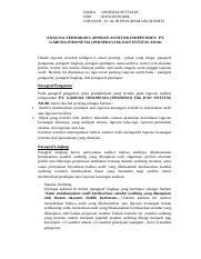 Analisa Terhadap Laporan Auditor Independen Pt Garuda Indonesia Persero Tbk Dan Entitas Anak Doc Nama Annisha Seftiani Nim 01031381821006 Jurusan Course Hero