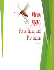 Lab 1 - 2 West Nile Virus - Shun Ren.pptx