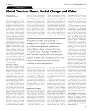 Shepherd (2010) Global Tourism Flows, Social Change and China