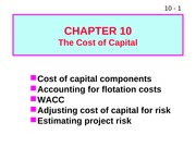 W11 ffm910 The Cost of Capital