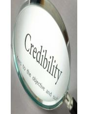 Class 3 - Establish Credibility