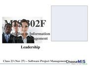 Class 22 - Software Project Management - post