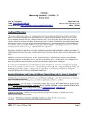 Marketing Research - MKT 470 - Syllabus- Fall 2015.docx