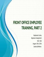 Signature Assignment Front Office Employee Training Part 2