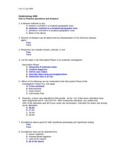 Unit 11 Practice Questions and Answers