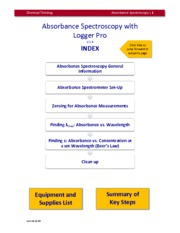 Absorbance Spec with Logger Pro v2.4