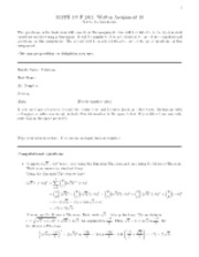 Algebra assignment 10 with solutions
