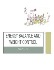 11.Energy Balance  Weight Control