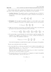 vector calculus notes