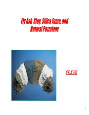 7- Fly Ash, Slag, Silica Fume, and Natural Pozzolans