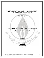 "A Study of Indian Auto Industry in Current Scenario""--Varun final project"