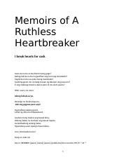 Memoirs of A Ruthless Heartbreaker^_^.docx