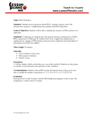 dna_ws - www.LessonPlansInc.com Topic DNA Worksheet Summary ...