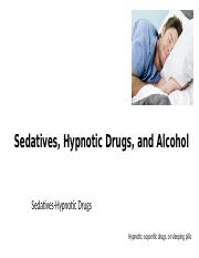 L10 Sedative-Hypotic Drugs and Alcohol