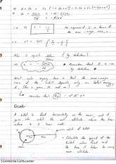 Energy and Orbits Lecture Notes