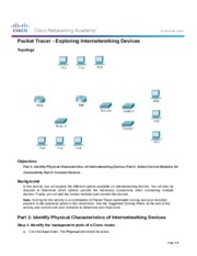 6.3.1.8 Packet Tracer - Exploring Internetworking Devices