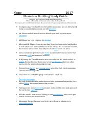 4 4 mountain building study guide 1 ashley doc name 2017 mountain rh coursehero com chapter 20 mountain building study guide for content mastery answers chapter 20 mountain building study guide for content mastery answers