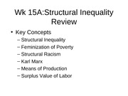 Wk 15A Structural Inequality Review