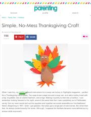 Simple, No-Mess Thanksgiving Craft | Parenting.pdf