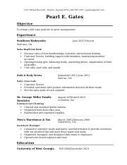 Resume 10 - Pearl E. Gates.doc