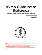 AVMA Guidelines on Euthanasia