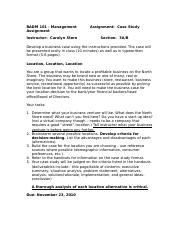 case study assignment instructions Josef mittlemann a case study assignment the case: in your teams, prepare a case study as otherwise set forth in this assignment note and instructions.