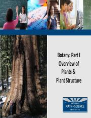 1_Botany Part I Plant Overview
