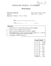 MATH 201 Fall 2006 Final Exam Solutions