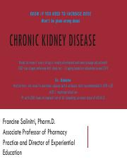 3 CKD and ESRD pdf - KNOW IF YOU NEED TO INCREASE DOSE Won't