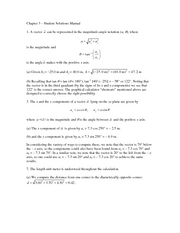 Chapter 3 Student Solutions Manual