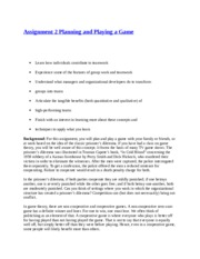Assignment 2 Planning and Playing a Game.docx