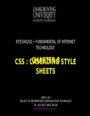 Chapter 8 Cascading style sheets.ppt