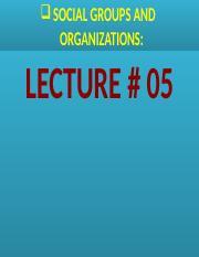 Social Groups & Organizations.Lecture # 05..pptx