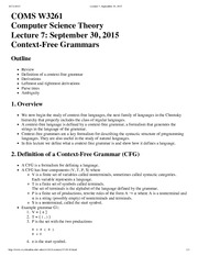 Lecture 7, September 30, 2015