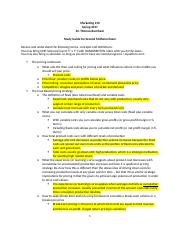Spring 2017 MKT 210 - Midterm #2 Study Guide.docx