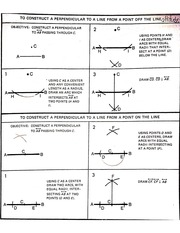 constructing perpendicular lines notes