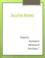 Securities markets.ppt