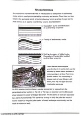 Mapping Unconformities Lab Notes and Exercises