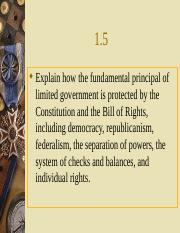 1.5 Principles of the Constitution