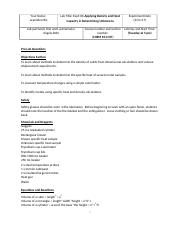 Blank Electronic Lab Report 6 Applying Density and Heat Capacity in Determining Unknowns.docx