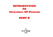 Microsoft PowerPoint - INTRODUCTION TO Structure OF Protein - PART B [