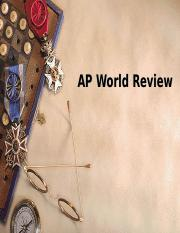 AP WORLD COURSE REVIEW.ppt