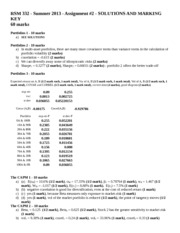 RSM332 - assignment #2 - summer 2013 - solutions