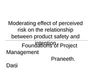 Moderating effect of perceived risk on the relationship