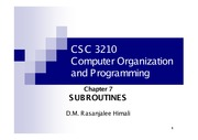 CH7- Subroutines