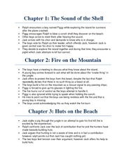 Note - Lord of the Flies Chapter Summaries