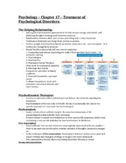 Chapter 17 Psych Notes